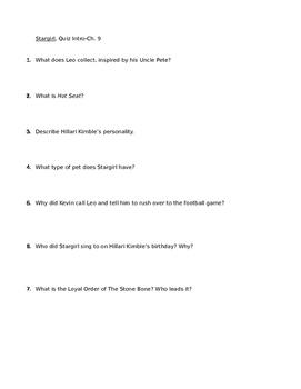 Stargirl Quiz Chapters 1-9