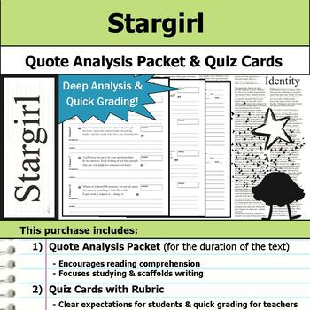 Stargirl - Quote Analysis & Reading Quizzes
