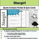 Stargirl - Quote Analysis & Reading Quizzes
