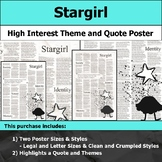 Stargirl - Visual Theme and Quote Poster for Bulletin Boards