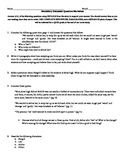 Stargirl by Jerry Spinelli Discussion Questions Worksheet
