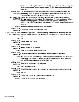 Stargirl by Jerry Spinelli Mock Trial Script
