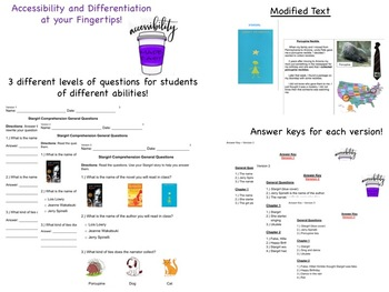 Stargirl by Jerry Spinelli - Modified Comprehension Questions