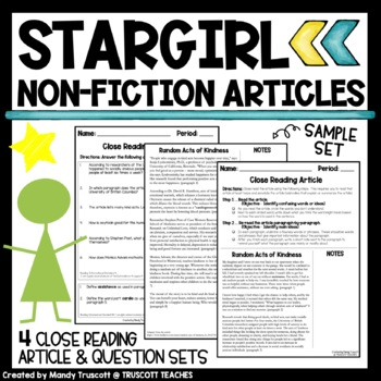 Stargirl by Jerry Spinelli Non-Fiction Supplement: Close R