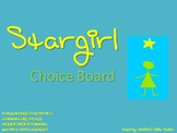 Stargirl Choice Board Tic Tac Toe Novel Activities Menu As