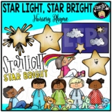 Star Light Star Bright Nursery Rhyme Clip Art Set {Educlips Clipart}
