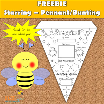Starring - Pennant or Bunting - back to school