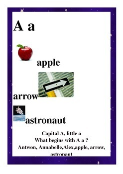 Starry Alphabet cards