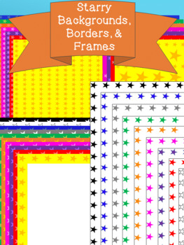 Starry Backgrounds, Borders, & Frames