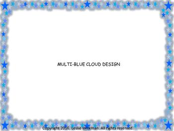 Starry Blue Frame Borders