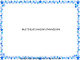 Starry Blue Frame Borders