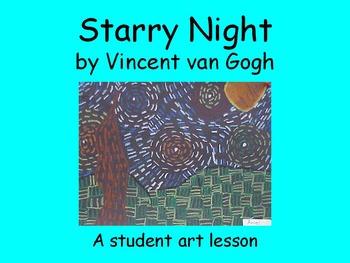Student Art Lesson Vincent van Gogh (PowerPoint)