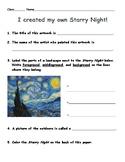 Starry Night Landscape worksheet