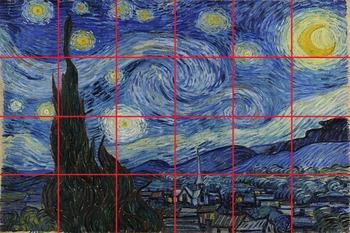 Starry Night Mural: Grid Drawing/Painting **BUNDLE**