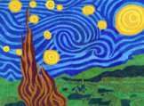 Starry Night Mural Template