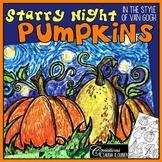 Starry Night Pumpkins : Art Lesson Plan - Halloween - Fall