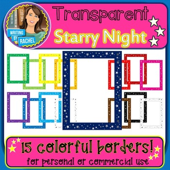 Starry Night: Transparent Star Borders