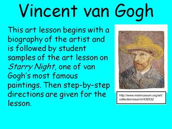 Starry Night van Gogh Student Lesson