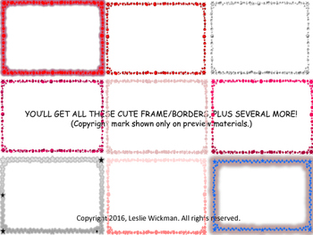 Starry Red Frame Borders