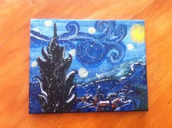 Starry Winters Night Vincent van Gogh