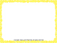 Starry Yellow Frame Borders