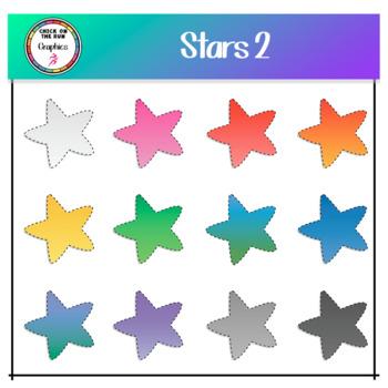 Stars 2 (Digital Clip Art)