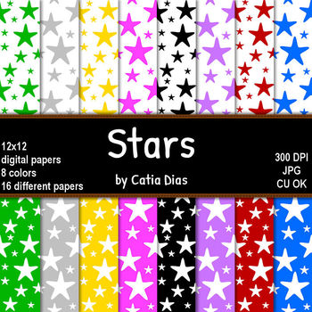 Stars - 16 Digital Papers