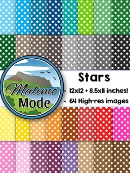 Stars - Digital Papers Package (12x12 AND 8.5x11 inches)