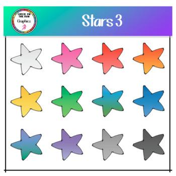 Stars 3 (Digital Clip Art)