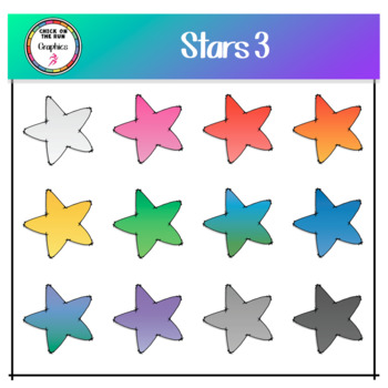 Stars 3 (Digital Clip Art)