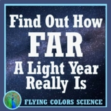 NGSS MS-ESS1-3:  Scale Properties of Objects in Space - How Far is a Light Year?