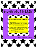 Star Awards Letter for Parents