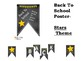 Stars Back to School Bulletin Board pennant banner