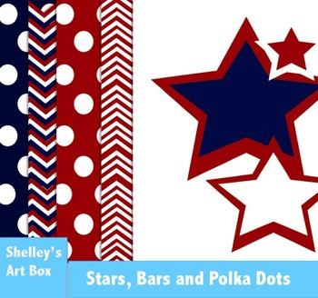 Stars, Bars and Polka Dots Patriotic Backgrounds