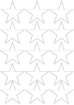 Stars Blackline Master / Printables