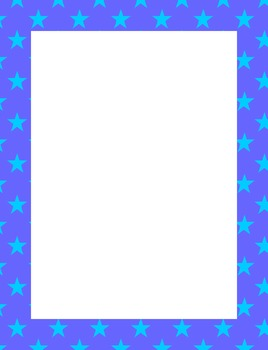 Stars Border Transparent Frames Matching Papers Clipart Personal Commercial