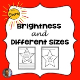Stars: Brightness and Different Sizes