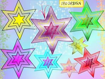 Stars - Clipart - Animated pictures - Personal or Commercial Use