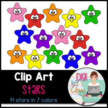 Stars Clip Art Smiles and Frowns