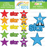 Stars Shapes 2D Clipart