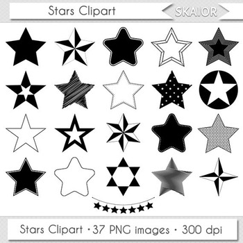 Stars Clipart Star Clip Art Silhouette Scrapbooking Icons