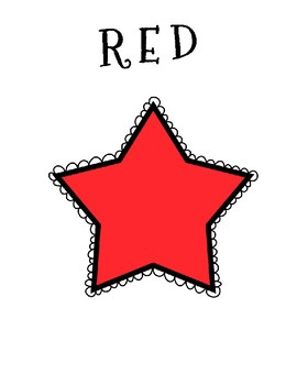 Stars Color Posters & Coloring Page