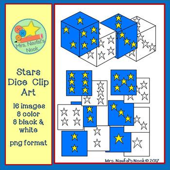 Dice Clip Art - Stars