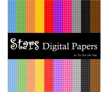 Stars Digital Papers