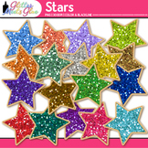 Glitter Stars Clip Art {Great for Student of the Week & Cl