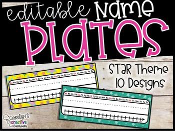 Stars Editable Name Plates - Stars Name Plates