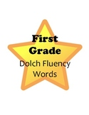 Stars! First Grade Reading Fluency Dolch Word Wall Words & Flash Cards Set