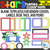 Classroom Decor - Stars Frames, Borders & Labels - 106 Piece Set