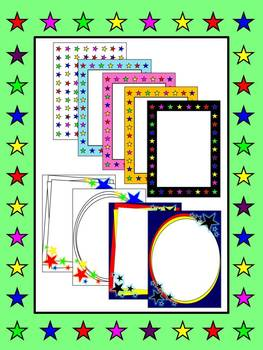 Stars Frames, Borders and Backgrounds for Commercial Use