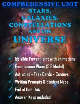Stars, Galaxies, Constellations and the Universe Comprehensive Unit and PPT